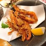 海鮮道楽 ととや - 甘海老の唐揚げ(540円)