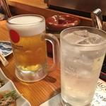 海鮮道楽 ととや - 生ビール・レモンサワー