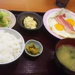 TSUDA屋 - 朝定食B 税込500円(2017.07.14)