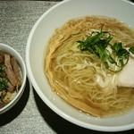 光麟堂 - 塩ラーメン+チャーシュー丼