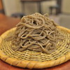 來輪 - 料理写真:粗挽きそば。