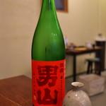 來輪 - 男山にも様々な種類がありますねぇ。これは赤ラベルで超辛口。