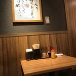 親父の製麺所 - 内観・テーブル席2017年7月