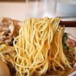 らーめんもりかわ - たちうお醤油ラーメン(麺)