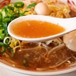 らーめんもりかわ - たちうお醤油ラーメン(スープ)