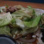 かねだ食堂 - 肉野菜炒め定食