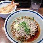 門左衛門 麺・串 - 冷やしぶっかけそばとミニ天丼のセット