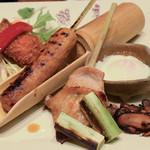 蔵人厨 ねのひ - 赤鶏の炭焼き膳