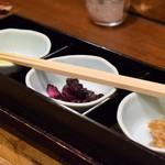 蔵人厨 ねのひ - お新香(赤鶏の炭焼き膳)