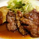 辰五郎 - コンビネーションランチ(ハンバーグステーキ&牛肉の照り焼きステーキ))
