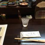 活麺富蔵 - カウンター席