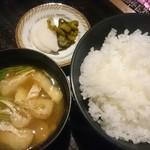 与一 - ご飯と味噌汁