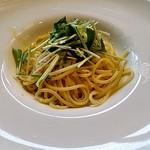 70165450 - タラバと海老と水菜のペペロンチーノ