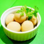 七 - うずら卵のスモーク煮卵