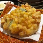 回し寿司 活 - トウモロコシかき揚げ 130円