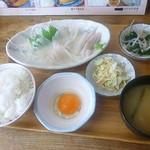 のんのん - 朝イカ刺し定食 2017.7月