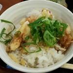 からびな - 本日のランチセットA ミニ鶏天丼 1,300円 鶏天丼