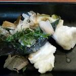 からびな - 本日のランチセットA ミニ鶏天丼 1,300円