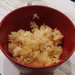 山猫軒 - 炊き込みご飯半分は卵かけご飯