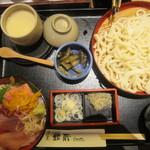 すし屋 銀蔵 - マグロ3色丼とうどんセット