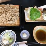 みな方 - 料理写真:天ぷらざるそば