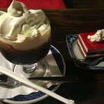 70172473 - アイスウィンナーコーヒーとサワーチェリー