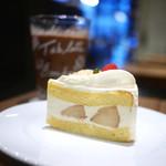 カカオストア - ピーチショートケーキ