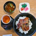 食菜 倍 - 旬の丼セット(1300円)