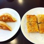 茗圃 - ランチ ミニコース 餃子と湯葉巻き揚げ