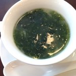 茗圃 - ランチ ミニコース アオサと白きくらげのスープ