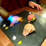 アルコバレーノ -  ◆村上牛の炙り手まり寿司①