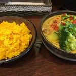 70184396 - チキン+野菜、ご飯大盛
