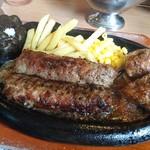 ステーキハウス ブロンコ ビリー 宝塚店 - 極み炭焼きがんこハンバーグ&炭焼きやわらかカットステーキ コンビ ランチ