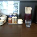 麺屋りゅう - カウンターセット