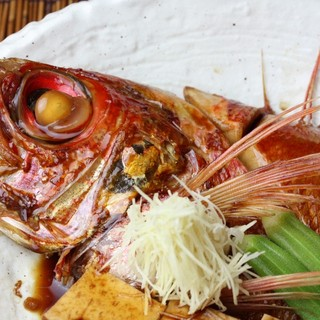 旬のお魚の酒蒸し・煮付け、日替わりでご用意!!
