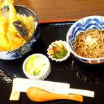 自然薯とそばの店 高尾の桜 - 天丼 ¥1450