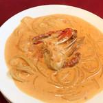 オステリア・バッカーノ - 小エビとワタリガニのトマトクリームソース