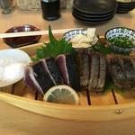 熟成魚と日本酒と藁焼き 中権丸 - 藁焼き3種