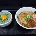 麺王者 井岡亭 - 井岡亭ランチ!らー麺+じゃこ玉子飯