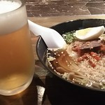 アリラン - 冷麺 中 と生ビール 中
