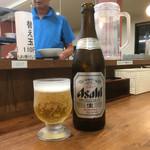 ラーメン大将 - カウンターにて… まずは生ビール(*^▽^*)