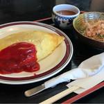 ふたばや - 料理写真:オムライスセット。