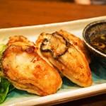 春来 - 鉄板焼き(牡蠣バター焼き)