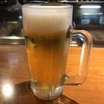おでん居酒屋 三幸 - 夜でも暑いので生ビール