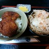 めん房丸仁 - 料理写真:「ソースかつ丼・おろしそばセット」