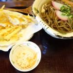 手打ちそば 元寿庵 - かき揚げ蕎麦 1000円