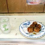 お好み焼き たこ焼き 伊佐 - たこ焼き5個100円(2017年夏)