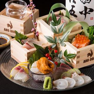 郷土の食材、自慢の一品料理で宴席を盛り上げます!