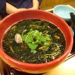蕎麦前処 二尺五寸 - 生海苔とアサリの蕎麦1360円
