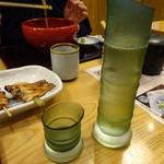 蕎麦前処 二尺五寸 - 涼しげな竹ガラス徳利